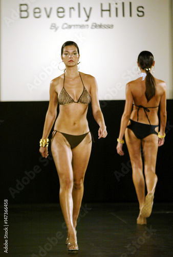 a9ed97dda3 MODELS SHOW THE SWIMWEAR LINE AT FASHION WEEK AMERICAS IN MIAMI ...