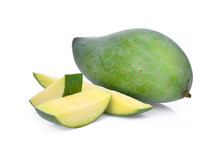 Fresh Green Mango Isolated On ...