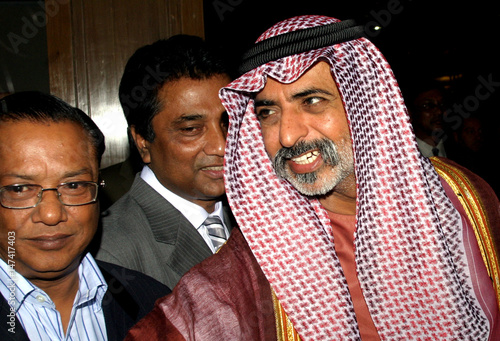 Sheikh Nahayan, owner and of Abu Dhabi Group, smiles during