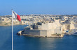 Fort St. Angelo, Malta, with flag, part of Grand Harbour