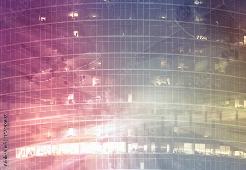 Fotografie, Obraz  Industrial blurred landscape