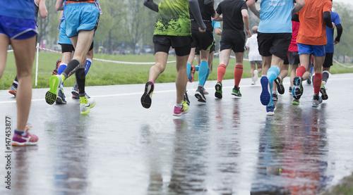 Obraz maraton-bieg po zdrowie - fototapety do salonu