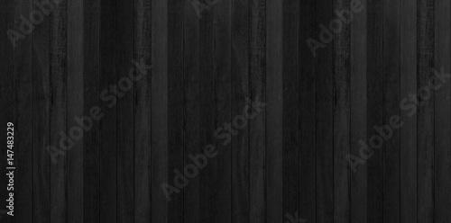 Fototapeta Black wood, Dark background texture. Blank for design obraz na płótnie