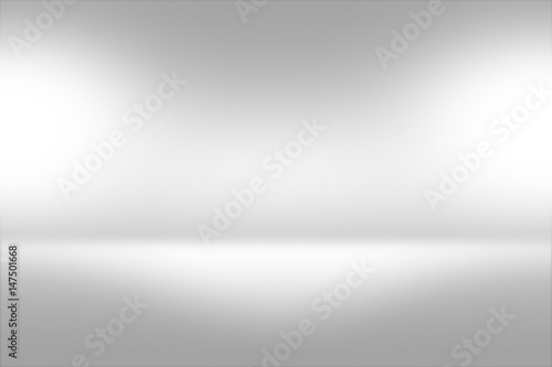 Fotografía  Product Showscase Spotlight Background - Crisp and Clear Infinite Horizon White