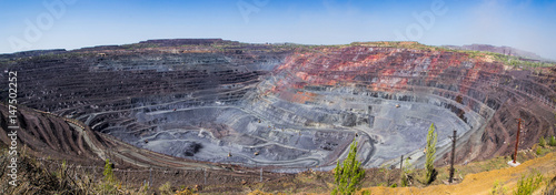 Fotomural Panorama of a biggest openpit mine in Europe