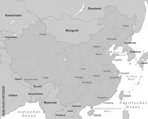 Karte China Hong Kong.China Karte Grau Buy This Stock Vector And Explore Similar