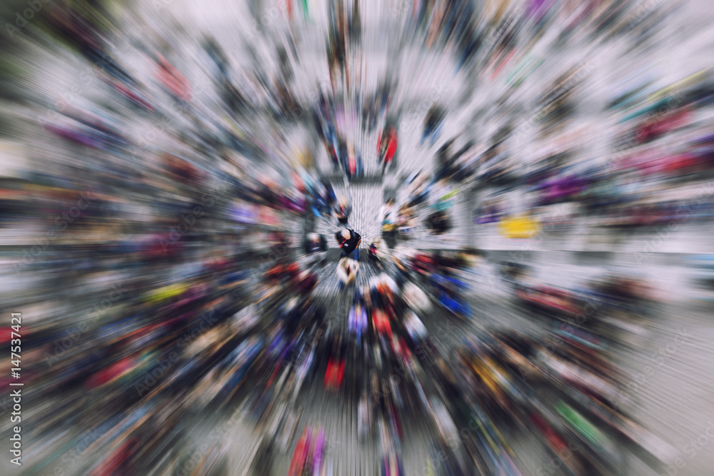 Fototapety, obrazy: crowd of people from above