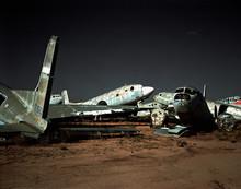 Abandoned Airplanes In Scrap Yard, Arizona, USA