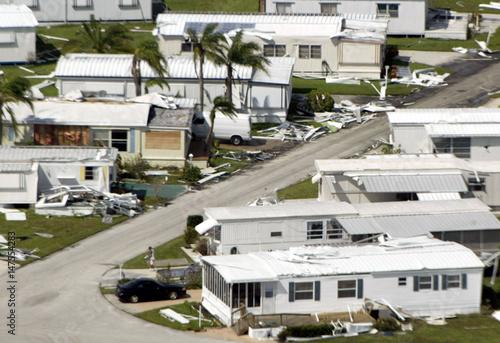 Mobile Homes Debris After Hurricane Frances Hit In Vero Beach