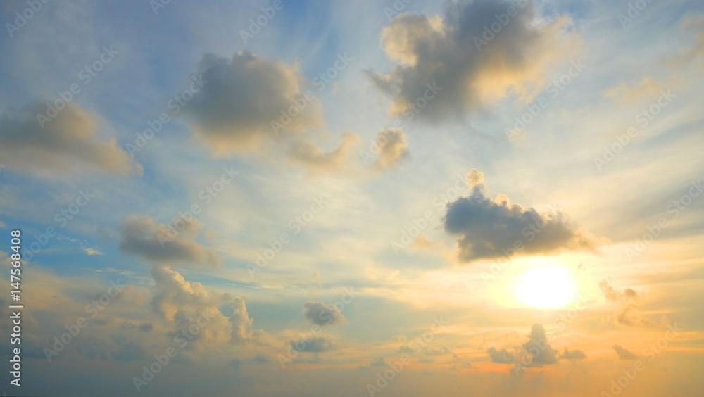 Fototapety, obrazy: evening sunset sky, Thailand.
