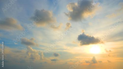 Fototapeta evening sunset sky, Thailand. obraz
