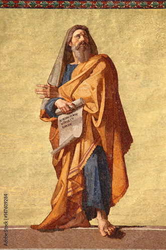 Mosaic of the Prophet Jeremiah in Rome, Italy Wallpaper Mural