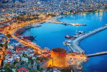 Aerial Sunset View Of Antalya, Turkey