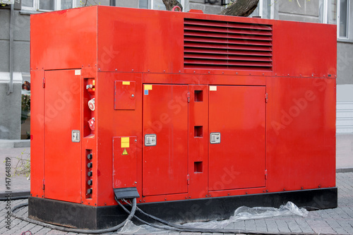Mobile electric power generator for emergency situations. Fototapet