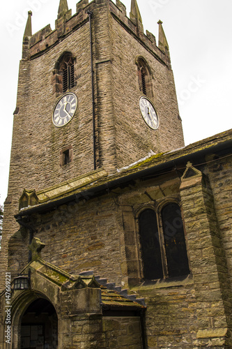 St Christopher`s Church is in the small village of Pott Shrigley, Cheshire, England Wallpaper Mural