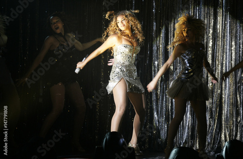 U S  singer and actress Beyonce Knowles performs during her