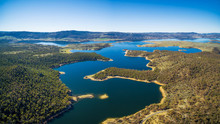 Aerial Panorama Of Lake Jindabyne, New South Wales, Australia
