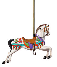 Merry-go-round Horse With Pole