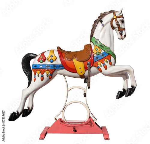 merry-go-round horse with stand Tablou Canvas