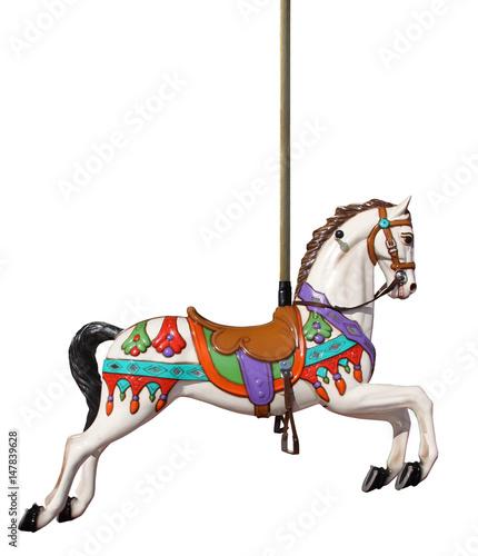 Vászonkép merry-go-round horse with pole