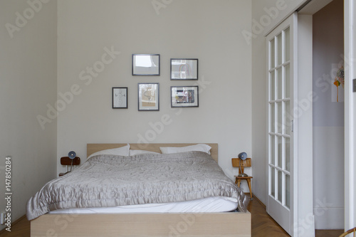 clean bedroom in an apartment