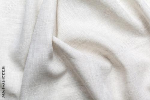Fotografie, Obraz White linen canvas texture