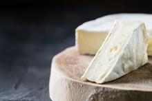 Closeup Of Soft Cheese Brie Sl...