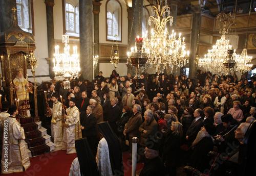 Greek Orthodox Christmas.Greek Orthodox Ecumenical Patriarch Bartholomew Blesses
