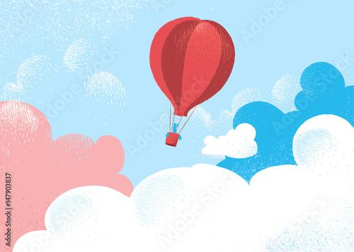 ilustracja-z-bajki-balon-w-chmurach