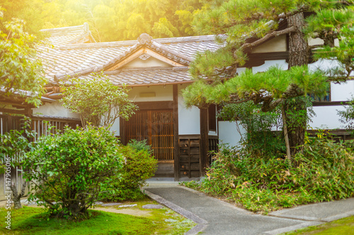 Japan Home garden zen style traditional Asian architecture.