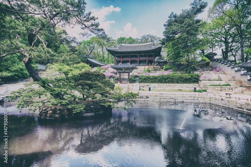 Keuken foto achterwand Seoel Buyeongji pond at the Huwon park, Secret Garden, Changdeokgung palace, Seoul