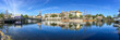 DESTIN, FL - FEBRUARY 2016: Panoramic view of Harbourwalk Village with tourists, Florida