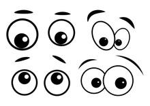 Cartoon Eyes Vector Symbol Ico...
