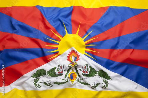 Flag of Tibet Canvas Print
