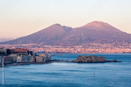 Foto auf AluDibond Neapel Naples from Posillipo
