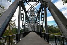 Pedestrian Bridge In Salem Oregon.