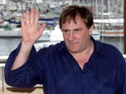 File photo shows Gerard Depardieu waving during a photocall