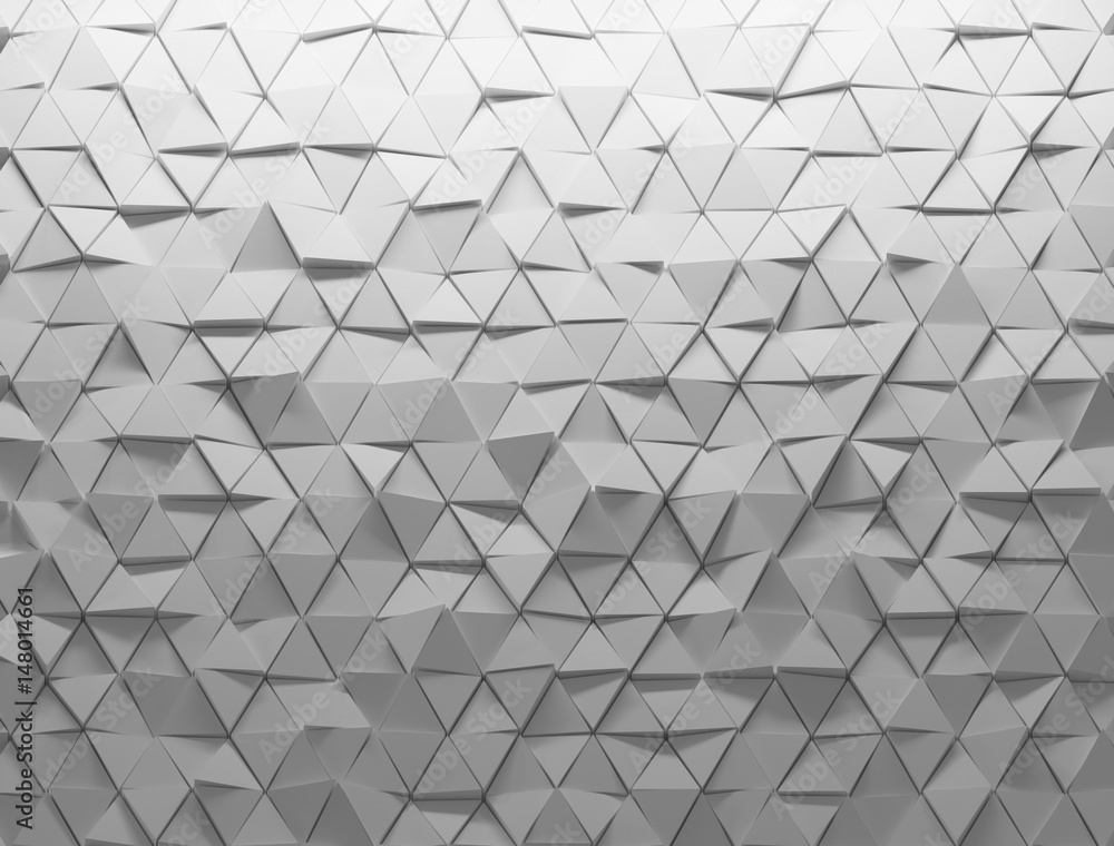 Fotografie, Obraz  White shaded abstract geometric texture