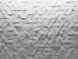 Fototapeta Perspektywa 3d - White shaded abstract geometric texture. Origami paper style. 3D rendering background.
