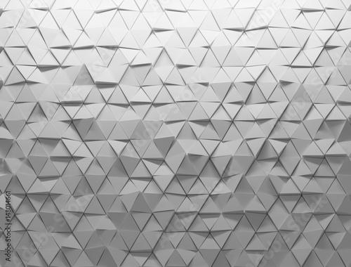 Obraz na plátně White shaded abstract geometric texture