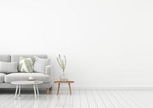 Livingroom Interior Wall Mock ...