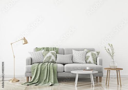 Strange Scandinavian Style Livingroom With Fabric Sofa Pillows Dailytribune Chair Design For Home Dailytribuneorg