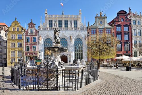Fototapeta Neptune Fountain in Gdansk obraz
