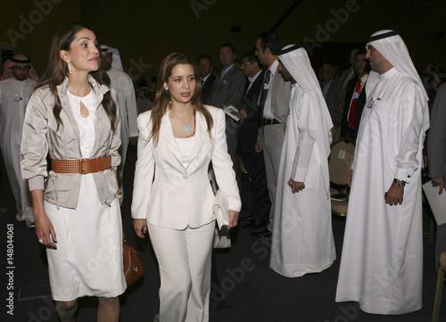 Queen Rania of Jordan and Princess Haya Bint al-Hussein
