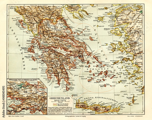 Photo Greece (from Meyers Lexikon, 1895, 7/944/945)