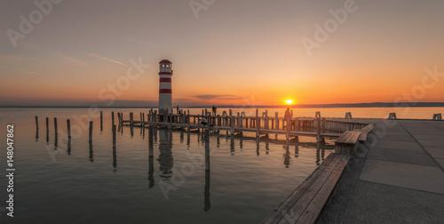 Zdjęcie XXL Neusiedlersee o zachodzie słońca, Podersdorf Burgenland Austria, Austria, Surf World Cup,