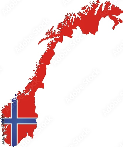 Norway map Fototapet