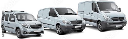 Fotografia Three light commercial vehicles