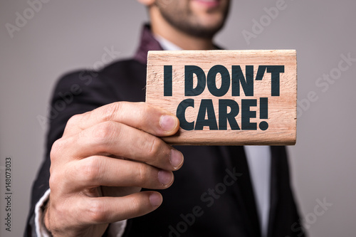 I Dont Care Canvas Print