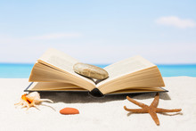 Book On The Beach With White S...